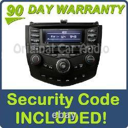 04 05 06 07 HONDA Accord Radio 6 Disc Changer CD Player 7BK1 Temp Control 7BK0