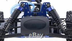 1/10 2.4Ghz Exceed RC Hyper Speed Off Road Buggy RTR. 16 Nitro Engine storm Blue