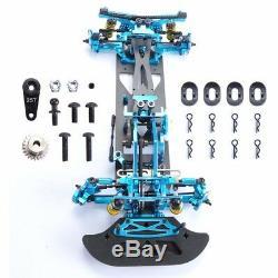 1/10 RC G4 Alloy Carbon & Fiber Drift Car Frame Kit For HSP HPI 4WD Drift Car