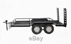 110 Scale Dual Axle Trailer Kit for RC Rock Crawler Axial SCX10 TRX-4 D90 Truck