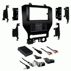 2015 Up Ford Mustang Dash Kit With Integrated / Swc Control Touch Screen