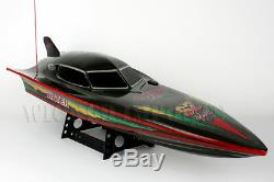 28 Twin Motor Radio Control RC S2 7000 Black Stealth FAST Racing RS Speed Boat