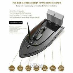 500M Black Wireless RC Fishing Bait Boat Dual Motors Fish Finder Searchlight