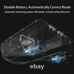 500M Wireless RC Fishing Bait Boat Hook Post 2Motors One Hand Control for Angler