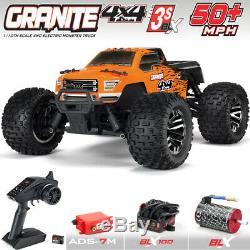 ARRMA ARA102720T1 1/10 GRANITE 3S BLX 4WD Brushless Monster Truck RTR Orange/Blk