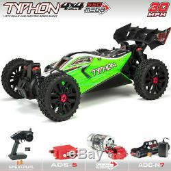 ARRMA Typhon 4X4 4WD 550 Mega Brushed 1/8 Scale 4WD Buggy Green ARA102694