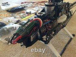 Align TREX 600E Pro RC Helicopter, Charger, Radio Controller & Airwolf Fuselage