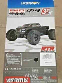 Arrma Big Rock 4X4 V3 3S BLX 1/10 RTR Brushless Monster Truck Blk ARA4312V3 New