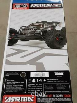 Arrma Kraton 1/5 EXB EXtreme Bash Roller Speed 4WD Monster Truck Black New