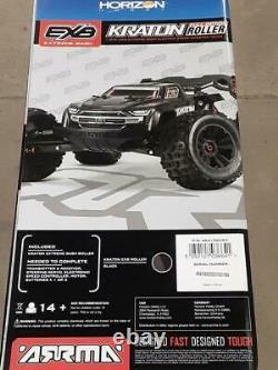 Arrma Kraton 1/8 EXB EXtreme Bash Roller 4WD Monster Truck Black ARA106053 New