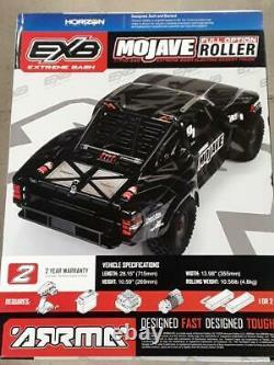 Arrma Mojave 6S EXB Extreme Bash Roller 1/7 4WD Desert Truck Black ARA7204 New