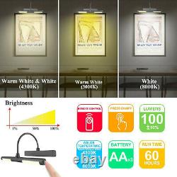 BIGLIGHT Picture Light Remote Control Wireless Battery Operated LED Wall BlackHQ