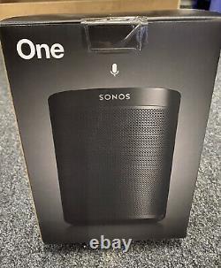 BNIB & Sealed Sonos One (Gen2) Voice Controlled Smart Speaker (Black)