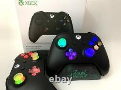 Black Xbox One Controller w LED MOD