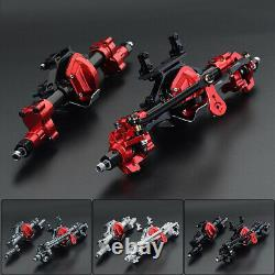 CNC Metal Front &Rear Portal Axle Assembly for 1/10 RC Climbing Car SCX10 I II