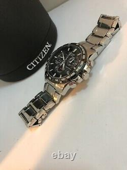 Citizen Mens Eco Drive Chrono A-T Radio Controlled Bracelet watch AT4008-51E