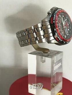 Citizen Mens Eco-drive SKYHAWK RED ARROWS TITANIUM, Radio Controlled watch