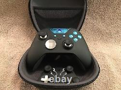 Elite Xbox One 1 Controller Custom BLUE Led, Buttons, ABXY with Letters