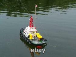 Fistone RC Seaport Boat 2.4G Workboat Tugboat 5CH Radio Control Fireboat 9v Toys