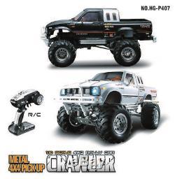 HG 1/10 RC Pickup Racing Model 44 Rally Car Series Crawler RTR ESC Motor bk
