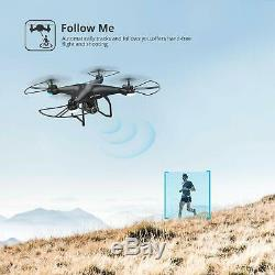 Holy Stone HS120D Selfie FPV Drone With 1080p Camera Quadcopter GPS Fellow Me