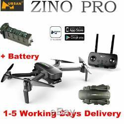 Hubsan ZINO PRO Drone 4K Camera FPV Foldable Quadcopter 3Gimbal GPS RTH+2Battery