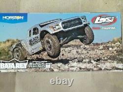 Losi Baja Rey Ford Raptor 1/10 RTR 4WD Brushless Desert Truck Black Rhino New