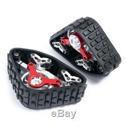 Metal Tracks Wheels Conversion Snow Tires for 1/10 RC AXIAL SCX10 Wraith 90018