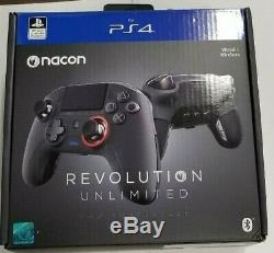 NACON Revolution Unlimited PS4 Pro Controller SLEH00552 Black NEW