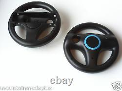 NEW 2pcs Mario Kart Racing Steering Wheel Nintendo Wii Remote Game Controller