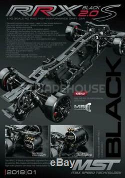 NEW MST 532163 RRX 2.0 S Black 110 RC RWD High Performance Drift Car Kit