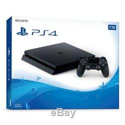 NEWithSEALED Sony PlayStation 4 1TB Console Jet Black PS4 w Wireless Controller