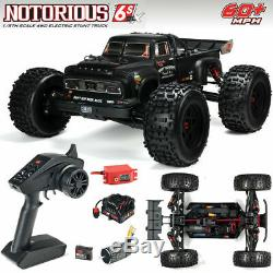 New Arrma 2019 1/8 Scale Notorious 6S BLX Truggy RC Truck RTR Ready To Run Black