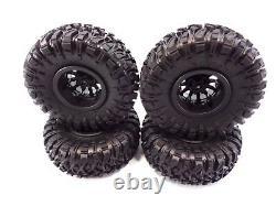 New Axial Wraith Spawn 2.2 Ripsaw Crawler Tires & Black Method Beadlock Wheels