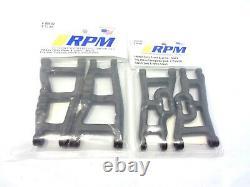 New Traxxas Slash 2wd Complete RPM A-Arm Set Front Rear Arms VXL Black