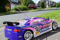 Pink Mitsubishi Radio Remote Control Car 1/10 Rechargeable Rally RC Car 20mph