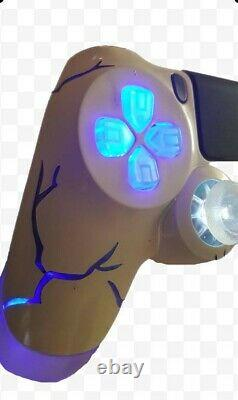 Playstation 4 PS4 Wireless Custom LED controller Backdrop BLUE