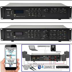 Powerful Bluetooth Mixer Amplifier200W Per ChannelWireless Multi Zone HiFi Amp