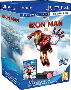 Ps4 Vr Twin Playstation Move Controller Boxset With Iron Man Game Brand New