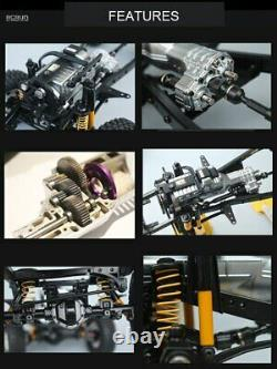 RCRUN 1/10 RC Ultra Realism Scale LC80 Metal Chassis Frame Builders Kit Truck M