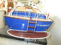 Slec 1/16 fairey swordsman rc model wood boat built to high standard 25 inch