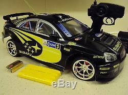 Subaru Impreza Wrc Style Remote Control Car 20mph Speed 1/10 Black Blue