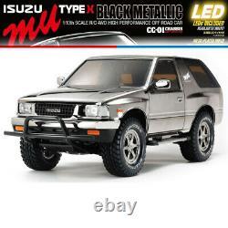 Tamiya 47383 1/10 Isuzu MU Type X CC-01 4WD Off-Road Car Kit with White LED