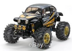 Tamiya 47419 BLACK Monster Beetle Radio Control RC Kit (CAR WITHOUT ESC)