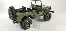 UK Willys Military Jeep Truck Model Off-Road RC Car 110 Mini Buggy 4WD USA ARMY