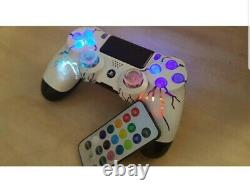 Whitecloud by TechFire PS4 Wireless controller LEDs custom made