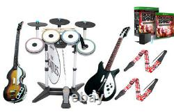 Xbox One Rock Band 4 The Beatles Drums3X Pro-CymbalsHofner & RickenbackerGame