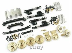 Yeah Racing Axial SCX24 C10 Jeep Aluminum & Brass Upgrade Parts Set AXSC-S05