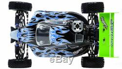 1/10 2.4ghz Exceed Rc Hyper Speed off Road Buggy Rtr. 16 Nitro Moteur Fire Noir