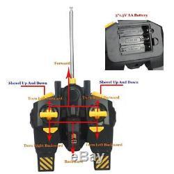 1/12 Rc Foins Digger Bulldozer Jouet À Distance Commande Avec Son Et Lumière